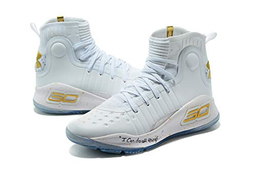 Footwear Curry (HBWFeng Unisex Basketball Shoes Curry 4 White Training Shoe)