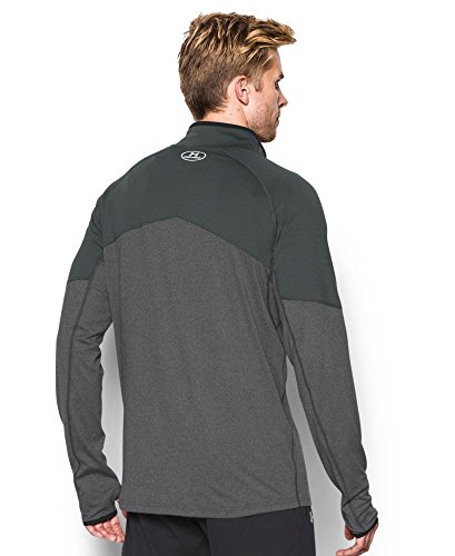 Under Armour Men's No Breaks Run 1/4 Zip, Carbon Heather/Carbon Heather, Small by Under Armour (Image #1)