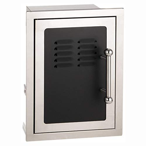 - Fire Magic Echelon Black Diamond 14-inch Left-hinged Louvered Single Access Door W/Propane Tank Storage & Soft Close - 53820hsc-tl