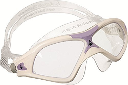 (Aqua Sphere Seal XP Swim Mask (White/Lavender, Clear) )