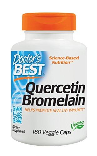 Doctor's Best Quercetin Bromelain, Non-GMO, Vegan, Gluten Free, Soy Free, Immune Support, 180 Veggie Caps
