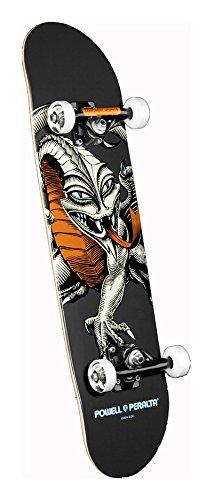 Powell-Peralta Black Light Cab Dragon Complete Skateboard, Gray (Powell Cab Dragon)