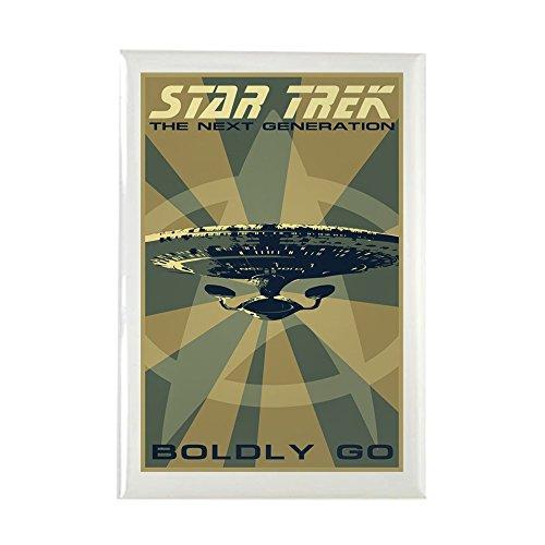 CafePress Retro Star Trek: TNG Poster Rectangle Magnet, 2