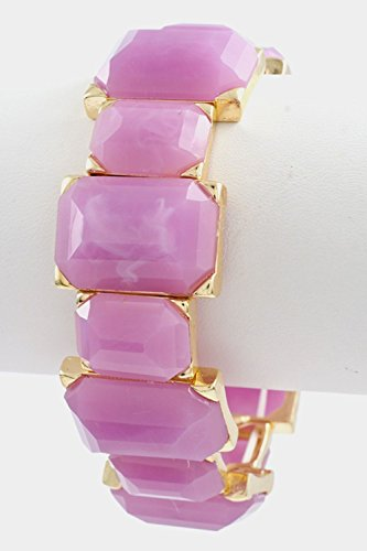 Karmas Canvas Faceted Rectangular Stretch Bracelet - Dior Www