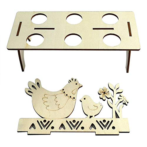 Bigmai Easter Egg Tray Holder, Cute Easter Egg Rack Tray Holder Slot Party Decorative Household Supplies Put Egg Storage Holders (Eggs not Including) by Bigmai (Image #3)