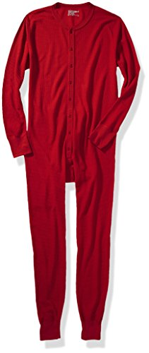 Hanes Men's Big X-Temp Thermal Union Suit, Red, 3X-Large