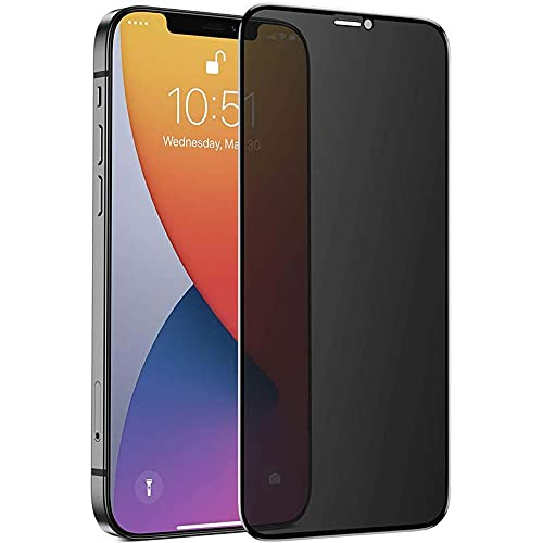 """Shild™ 9D Curved Full Coverage Privacy Screen Protector Tempered Glass for iPhone 12 Pro max (6.7"""") with OLEOPHOBIC COATING 
