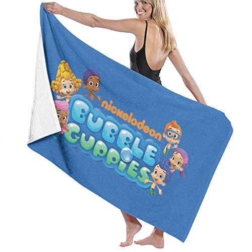 Kurabam Bath Towels Bubble Guppies Logo Large Soft Bed Beach Towel Sheet Bath Set Bathroom Accessories