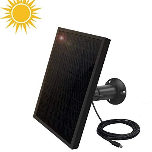 🥇 Weatherproof Solar Panel for Indoor/Outdoor Battery Powered Security Camera
