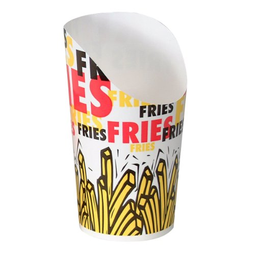 SOLO GSP80-83013 Single-Sided Poly Paper French Fry Scoop Cup, 9 oz. Capacity, Scoop Fries Print (Case of 600) by Solo Foodservice
