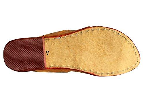 Step n Style Schritt N Style Traditionelle Handgemachte Kolhapuri Ethnic Schuhe indischen Schuhe Casual Sandalen