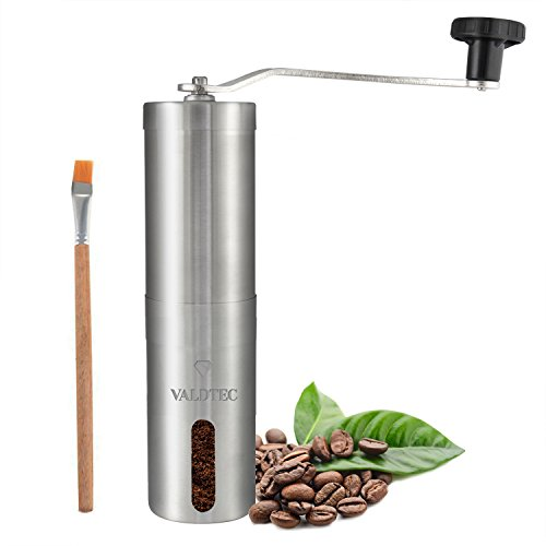 Portable Manual Coffee Grinder by VALDTEC – Heavy Duty Stainless Steel Coffee Grinder with Conical Ceramic Burr Mill