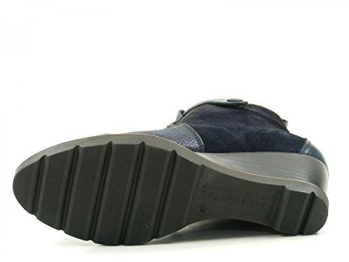 HispanitasAmberes HI63891 Botines de cuero para mujer Ankle Boots azul