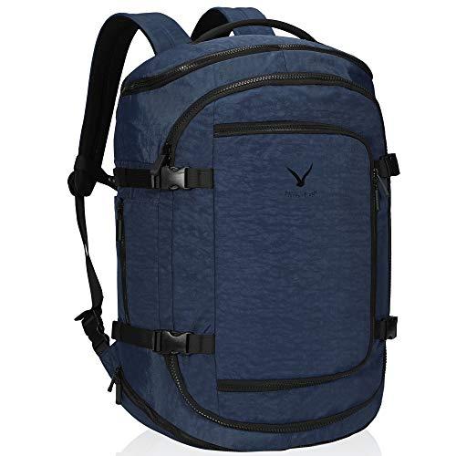 Hynes Eagle Travel Backpack Flight Approved Carry on Backpack Weekender Cabin Hand Luggage 45L Blue 2019 (Best Backpack For Travel 2019)