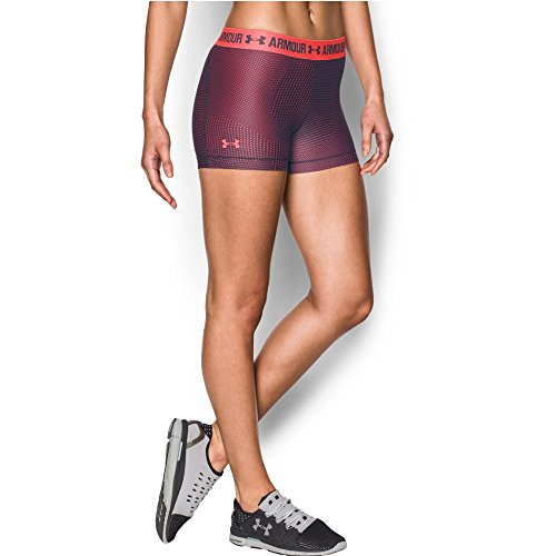 Under Armour Women's HeatGear Armour Printed Shorty, Midnight Navy/Pomegranate, X-Small
