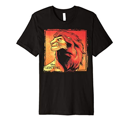 (Disney Lion King Simba Painted Portrait Logo Premium T-Shirt)