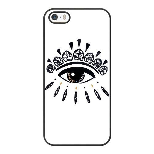 Wunatin Hard Case ,iPhone 5 5S Cell Phone Case Black Kenzo Eyes [with Free Tempered Glass Screen Protector]5691265308007