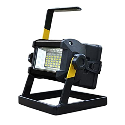 Led Flood Light, Napoo Portable 50W 36 LED Waterproof Rechargeable Worklight Spot Work Lamp Emergency Light For Outdoor Camping, Working, Fishing