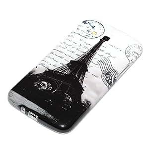 deinPhone Samsung Galaxy Grand 2 de silicona de la torre Eiffel en blanco y negro