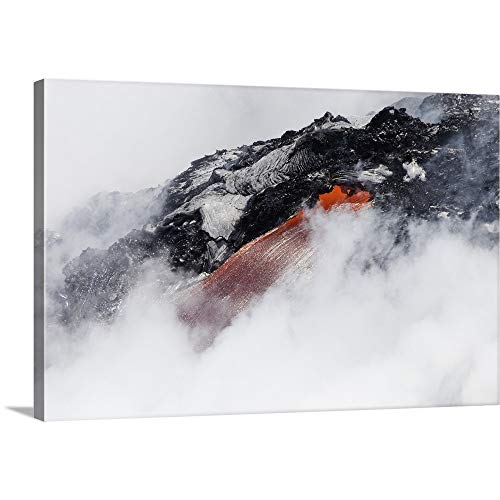 - GREATBIGCANVAS Gallery-Wrapped Canvas Entitled Hawaii, Big Island, Hawaii Volcanoes National Park, Lava Flow Pouring Into Ocean by Dave Fleetham 18