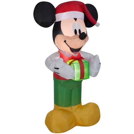 5 Foot Inflatable (Santa Mickey Mouse Inflatable LED 5ft with Present)