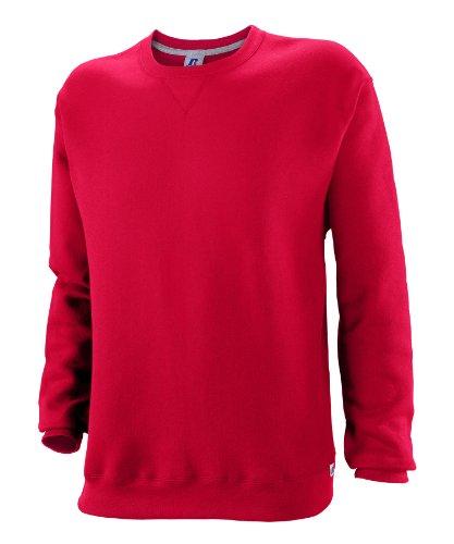 Russell Athletic Big Boys' Fleece Crew, True Red, Medium