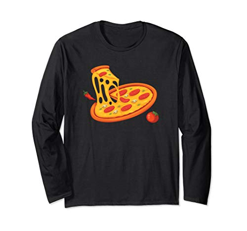 Pizza Halloween Costume Long Sleeve Shirt Food Group ()