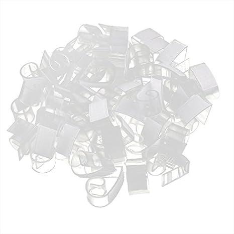 Amazon.com: eDealMax Partido de plástico gancho banquete de Lazo de Tela Zócalo de Clip 50 PC for Mesa de espesor 0.6inch: Home & Kitchen