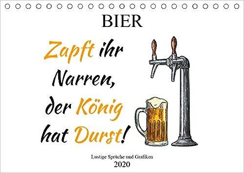 Bier Lustige Sprüche Und Grafiken Tischkalender 2020 Din