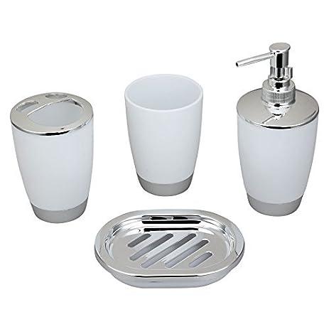 bathroom countertop accessories sets. JynXos Bath Countertop Accessory Set  Soap Dispenser Pump Toothbrush Holder Tumbler Wastebasket Amazon com