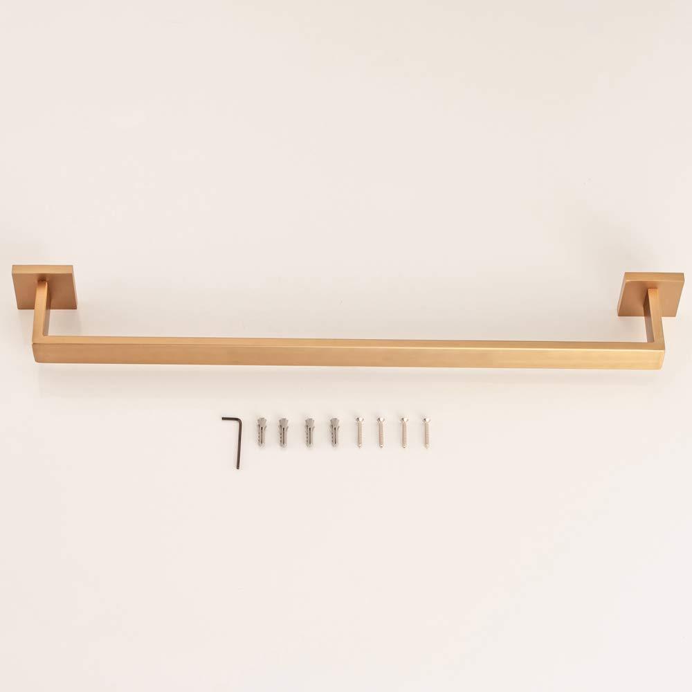 WOMAO Geb/ürstet Gold Badetuchregal Badetuchrack Handtuchhalter Edelstahl Konstruktion zum Bohren L60cm