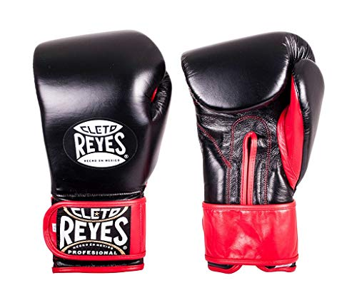 Cleto Reyes Hook & Loop Boxing Training Extra Padding Gloves (Black, 16 - Cleto Punch Reyes
