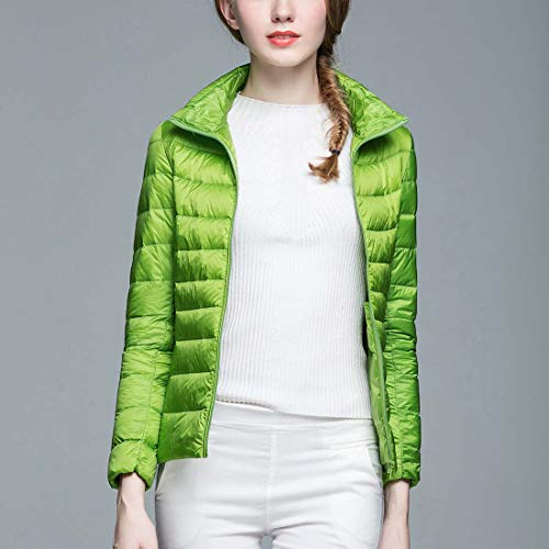 Donne Ultra Supporto Verde Collo Il Piumino Cappotti Basso Comprimibile Verso Breve Leggero AAUxdtr