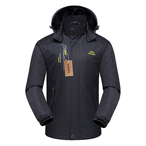 Lixada Waterproof Hooded Jacket Waterproof Jacket Ski Jacket Winter Rain Jacket Raincoats for Men/Women
