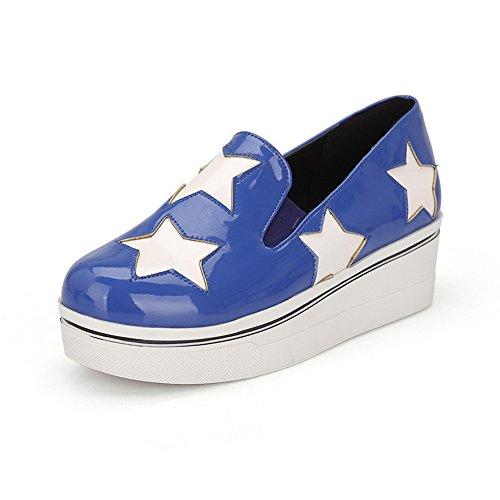 Plate-forme À Lacets Balamasa Womens Oxfords-chaussures À Bout Rond Bleu