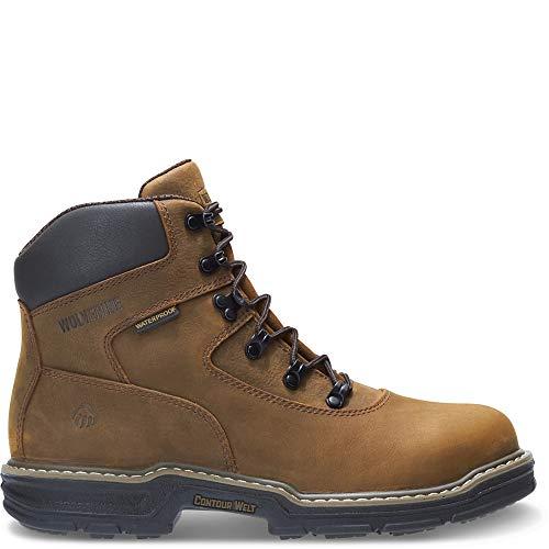 Wolverine Men's Marauder 6 Inch Contour Welt Steel Toe EH Work Boot, Brown, 8 M US ()