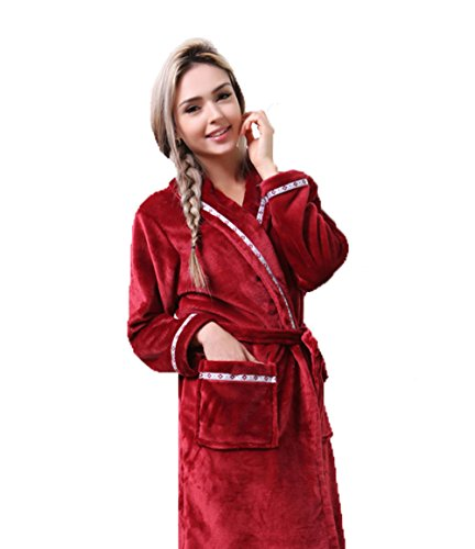 Tonwhar - Albornoz - para mujer Wine Red/ Women