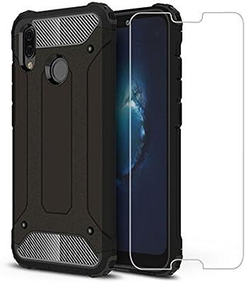 DESCHE Compatibles Funda Huawei P20 Lite, Hard PC Soft TPU 2 en 1 360 Armadura Protectora