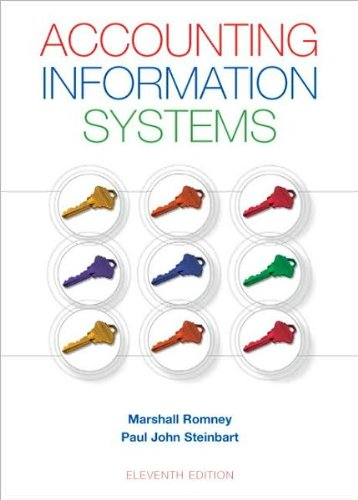 By Paul J. Steinbart,by Marshall B. Romney Accounting Information Systems (11th Edition)(text only)[Hardcover]2008
