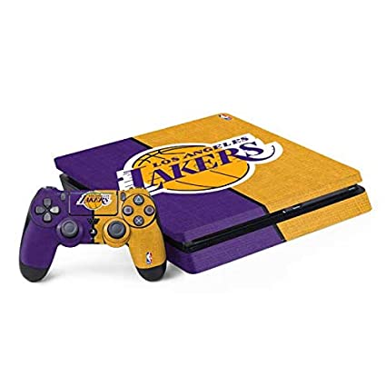 Video Game Accessories Ps4 Slim Console Controllers Skin Nba Los Angeles Lakers Vinyl Decal Sticker Set
