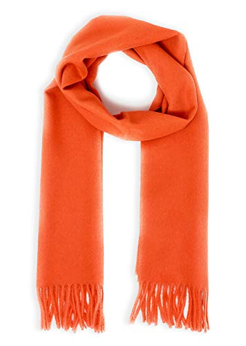 Luxury 100% Pure Baby Alpaca Wool Scarf for Men & Women - A Great Gift Idea in Many Colors (Coral) ()