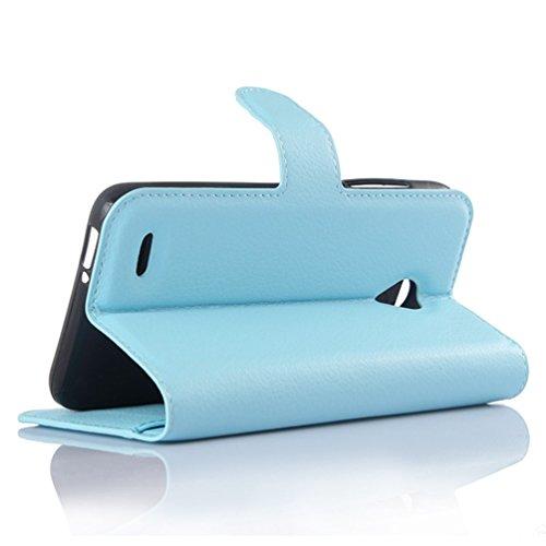 Funda Vodafone Smart Prime 6,Manyip Caja del teléfono del cuero,Protector de Pantalla de Slim Case Estilo Billetera con Ranuras para Tarjetas, Soporte Plegable, Cierre Magnético(JFC12-1) I