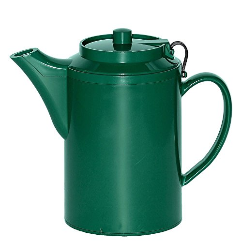 Service Ideas TST612FG Teapot with Tether, 16 oz., Forest Green Forest Green Teapot