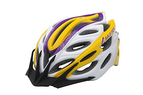 9863514ddfd16 Lucky Explorers NBA Los Angeles Lakers Adult Cycling Helmet,  Purple/Gold/Black/