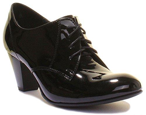 Stringate patent Justin Donna 1020 Reece black Scarpe qxBv6F