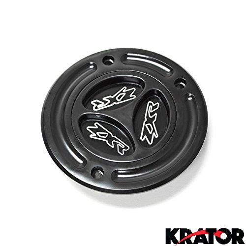 Krator® Black Keyless Gas Cap Logo Twist Off Fuel Tank Cap For 2000-2008 Kawasaki ZX-6R
