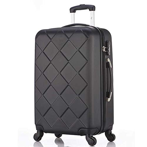 RUIMA Luggage Trolley Trolley 20 inch Men and Women Double Bearing Caster Suitcase Diamond Pattern Series Luggage (Color : F1, Size : 20 inches)