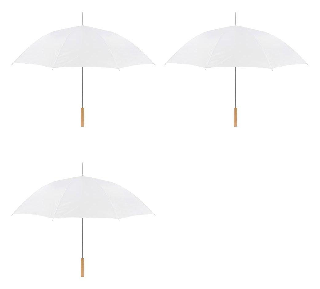 Wedding Umbrella - 48'' Umbrella - Manual Open - 3 Pack By Anderson Umbrella (White)