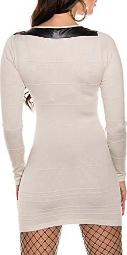 robe pull long laine beige sexy femme