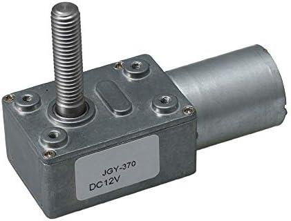 JGY370 40rpm 12V Turbo Worm Gear Box Motor M8 Thread Shaft for Roboots